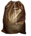 Small Nylon Laundry Bag, Metallic Gold