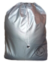 Small Nylon Laundry Bag, Metallic Silver