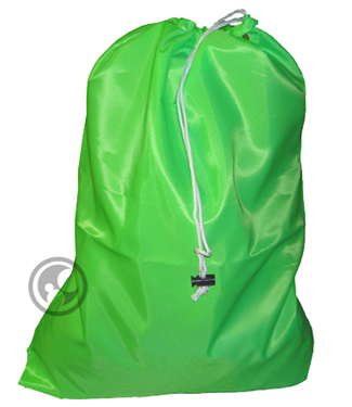Small Nylon Laundry Bag, Fluorescent Lime Green