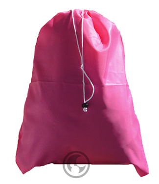 Laundry Bags, Fluorescent Pink, Small with Drawstring