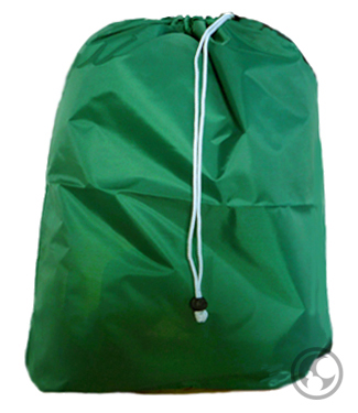 Laundry Bags, Green Small, Nylon with Drawstring