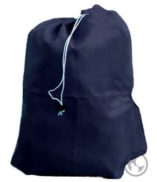 Laundry Bag with Drawstring and Locking Closure, Color: Navy Blue ...