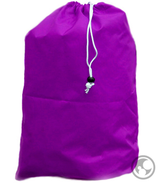Small Nylon Laundry Bag, Purple