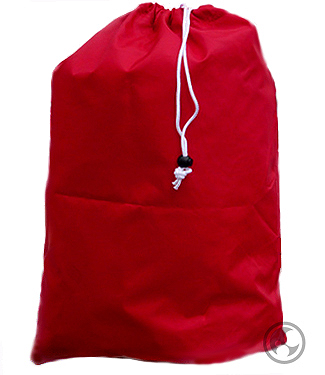 Extra Large Red Laundry Bags with Heavy Duty Drawstring