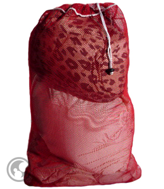 Large Mesh Laundry Bag, Red