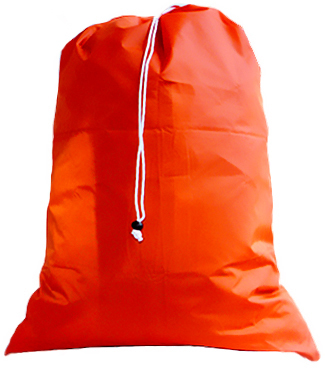 College Laundry Bags, Extra Large Orange with Drawstring