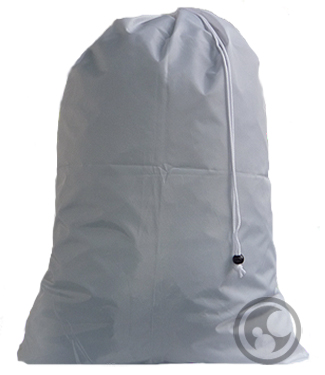 Large Nylon Laundry Bag, Silver