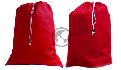 Nylon Laundry Bag Set Red