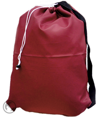 Large Size Laundry Bag with Strap, Burgundy