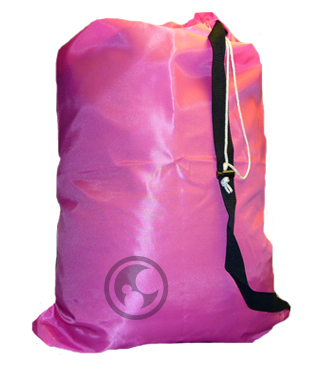 Large Pink Laundry Bag with Strap
