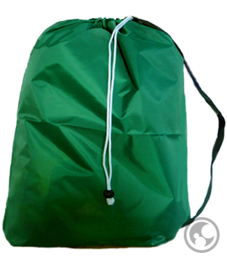 Large Dark Green Laundry Bags with Handles