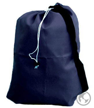 Large Laundry Bag with Strap, Navy Blue