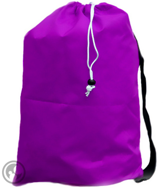 Large Purple Nylon Laundry Bag with Strap