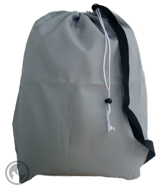 Gray/Silver Strap Laundry Bags, Size: 22x28 Small