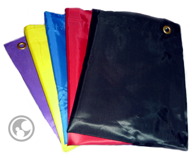 small laundry bags in assorted colors